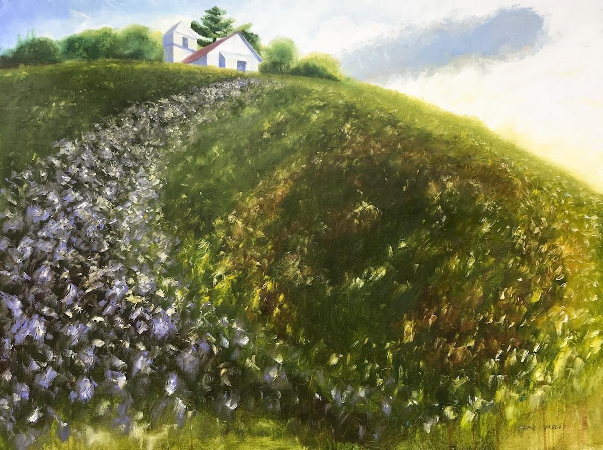 Hill Flow-Lavender Curve (large view)