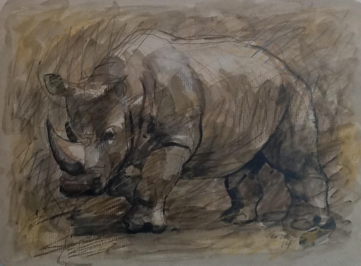 Rhinoceros Fossil: Extinct (prototype) (large view)