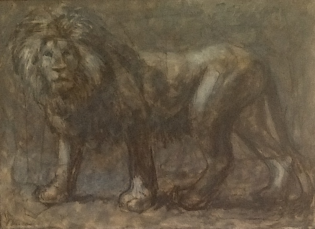 Fossil: Extinct Male African Lion (large view)
