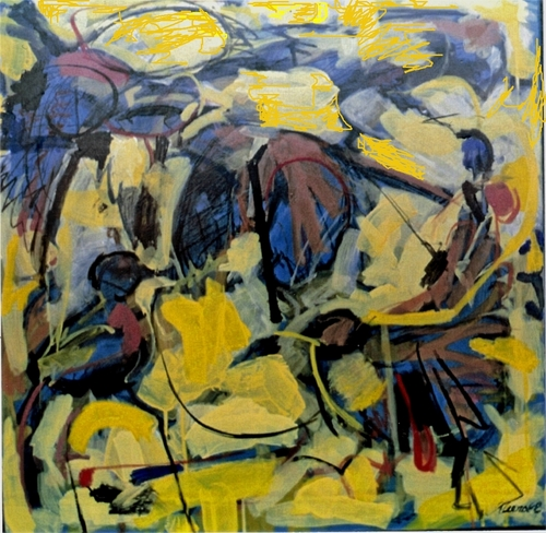 """Composition with Birds and Yellow""2008 (large view)"