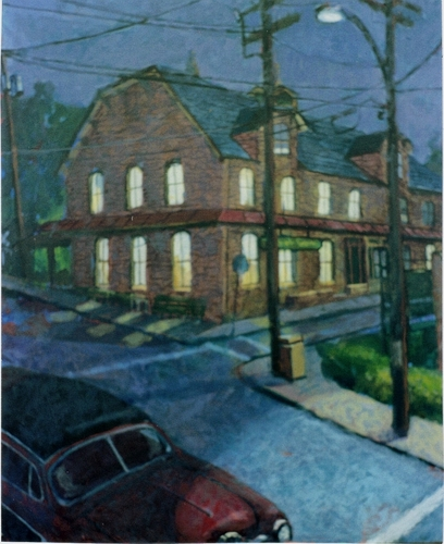 """Lambertville Station PM"" 2007 (large view)"