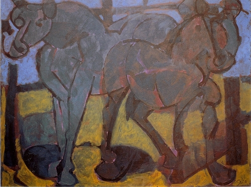 """Two Dark Horses"" 2006 (large view)"