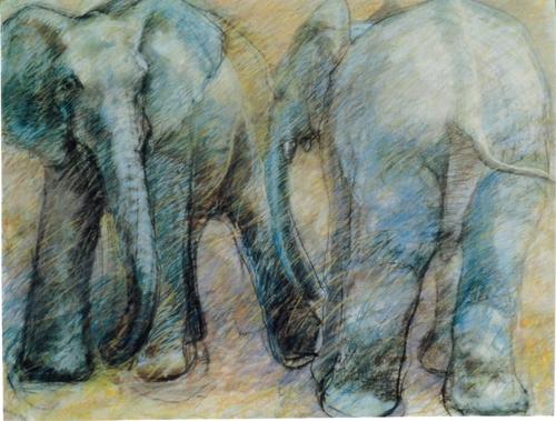 """Elephants""1999 (large view)"