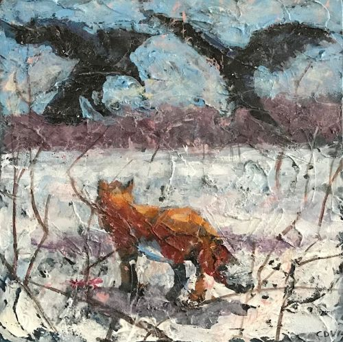 Winter Fox and Crows:Part One (large view)
