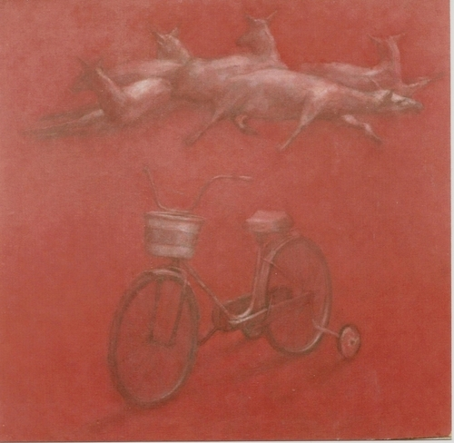 Goats and Bicycle (large view)