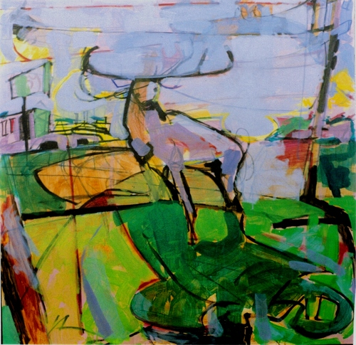 Deer in the Suburbs,2007 (large view)