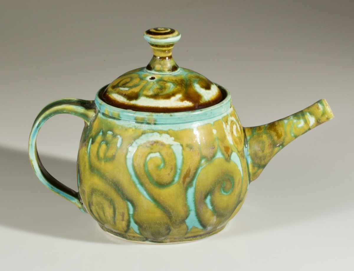Turquoise Green Teapot (large view)