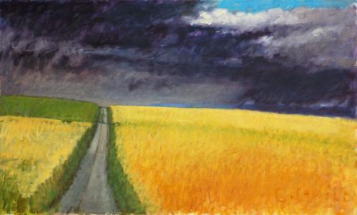 Fields of Barley by cynthia guild stoetzer