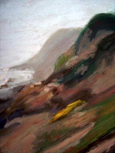 Foggy Coastal Shoreline-SOLD (large view)