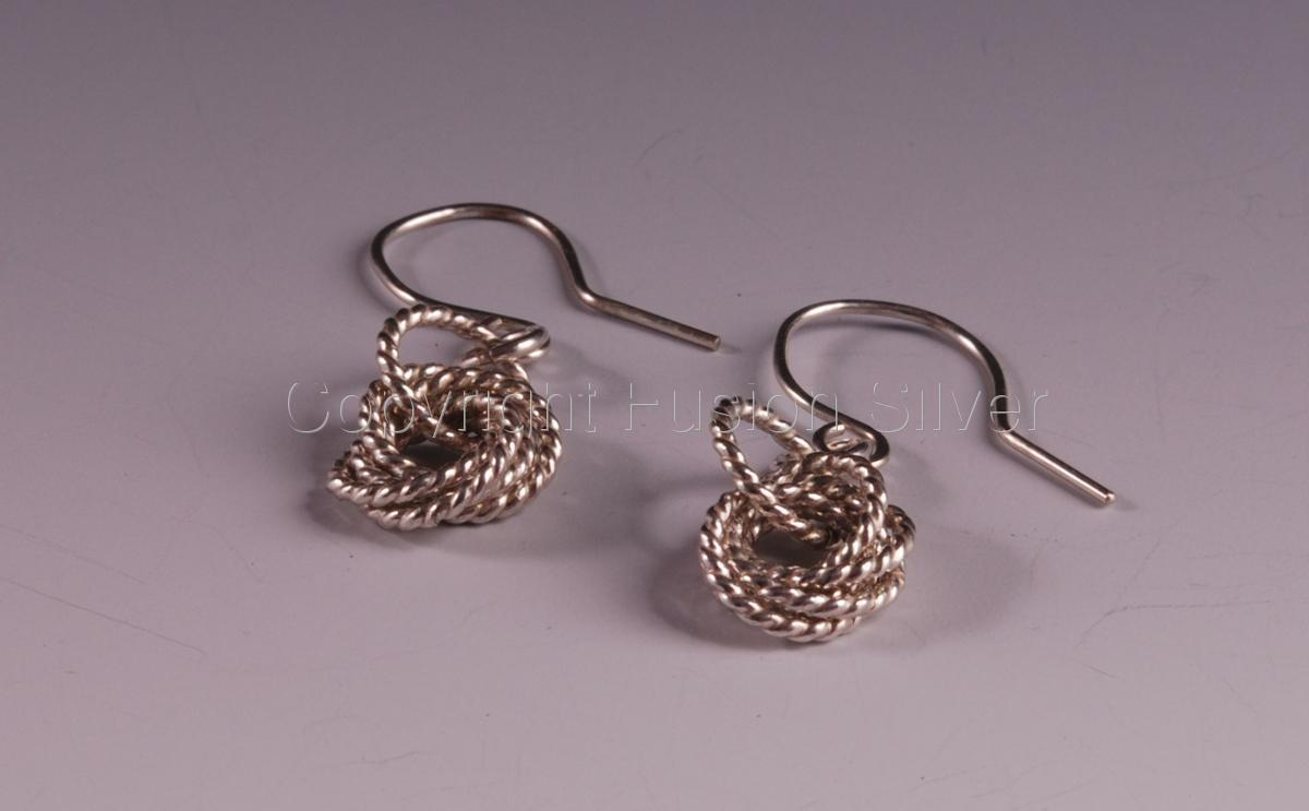 Mobius Earrings - Twisted Wire (large view)