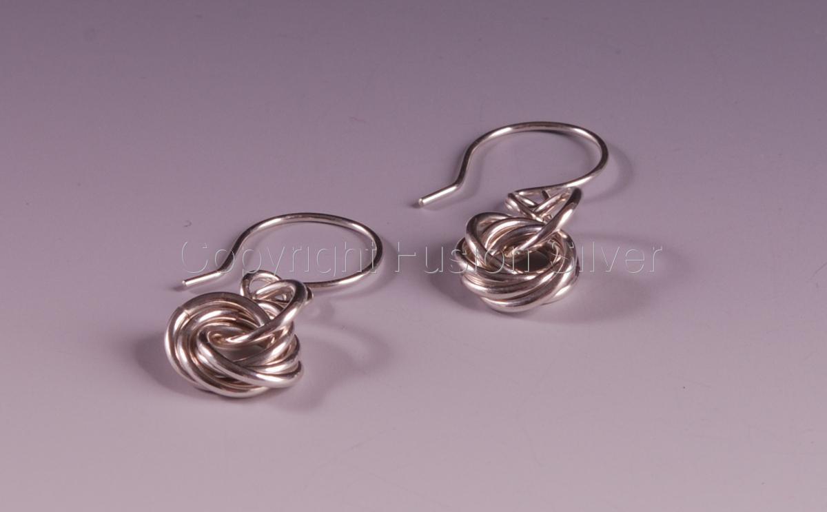 Silver Mobius Earrings (large view)