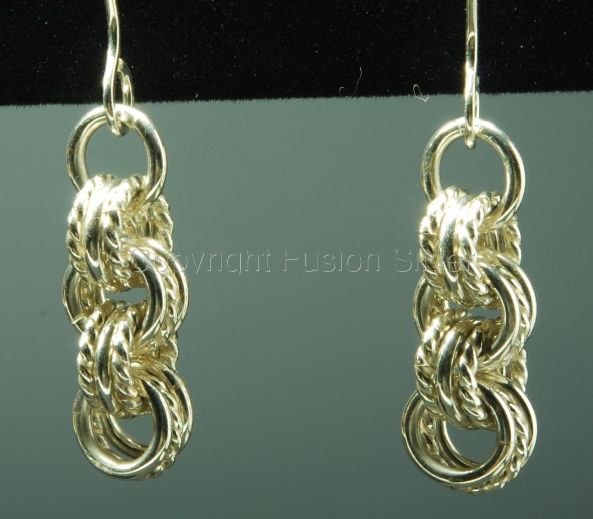 3 in 3 earrings with twisted wire (large view)