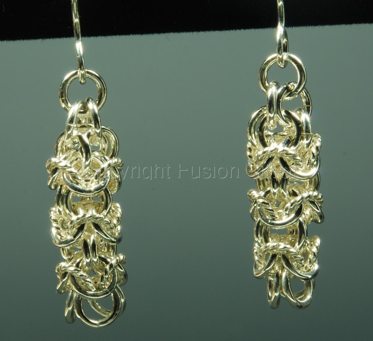 Turkish round twisted wire earrings (large view)