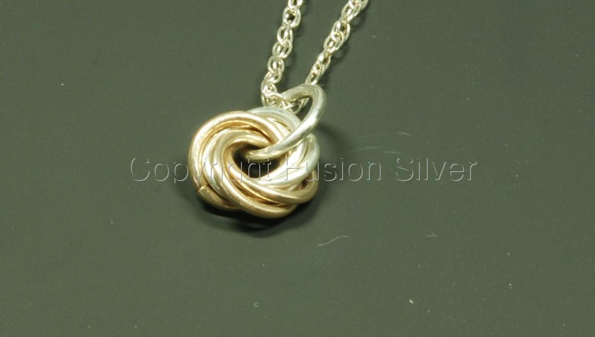 Mobius 2 tone pendant - small (large view)