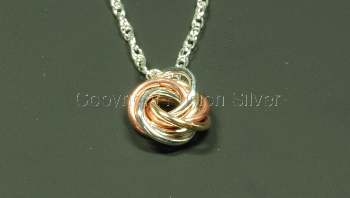 Small 3 tone Mobius Pendant (large view)
