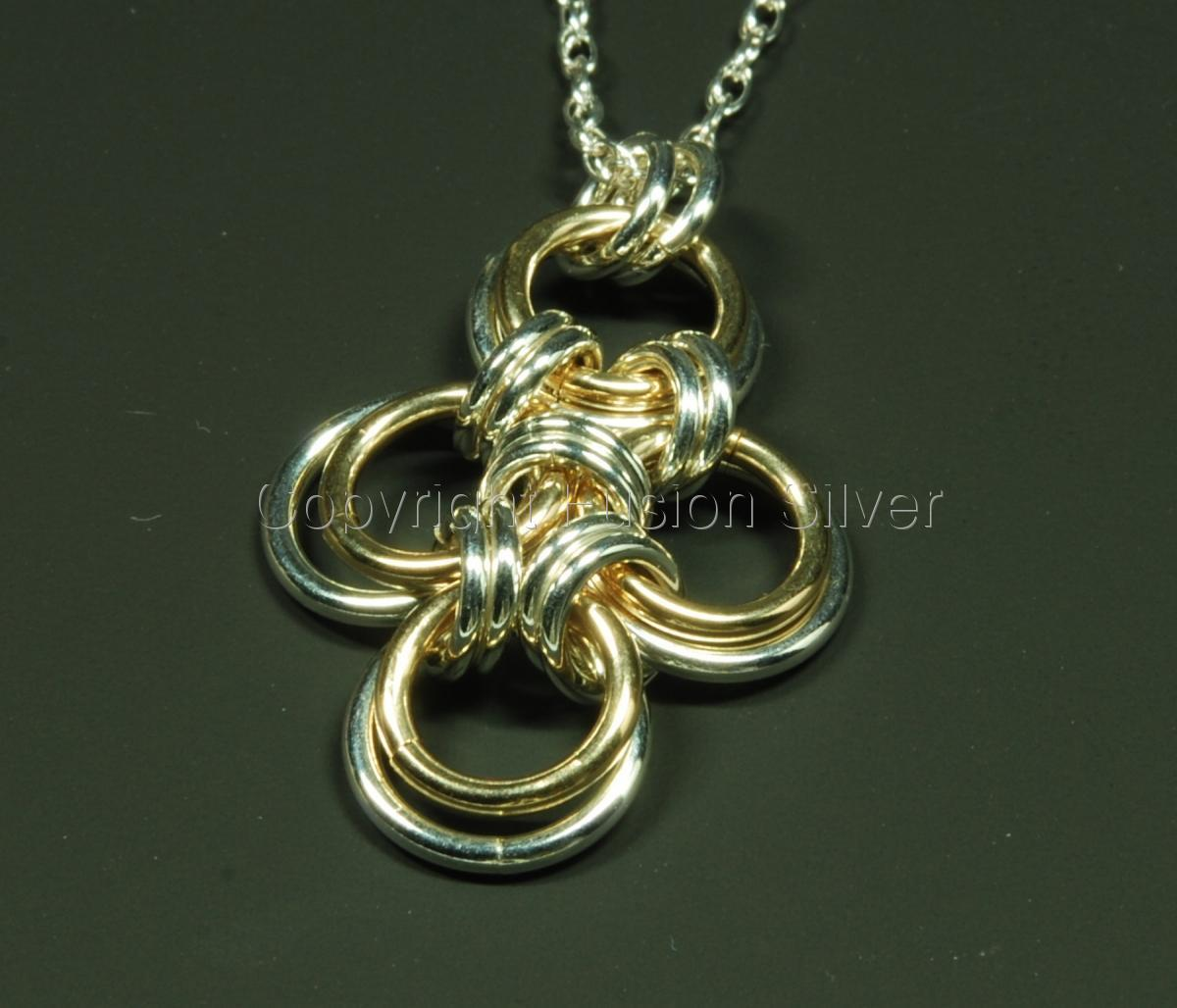 Japanese Cross - Silver and Gold (large view)