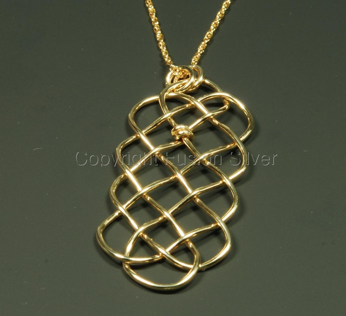 Gold filled Prolong Knot Pendant (large view)