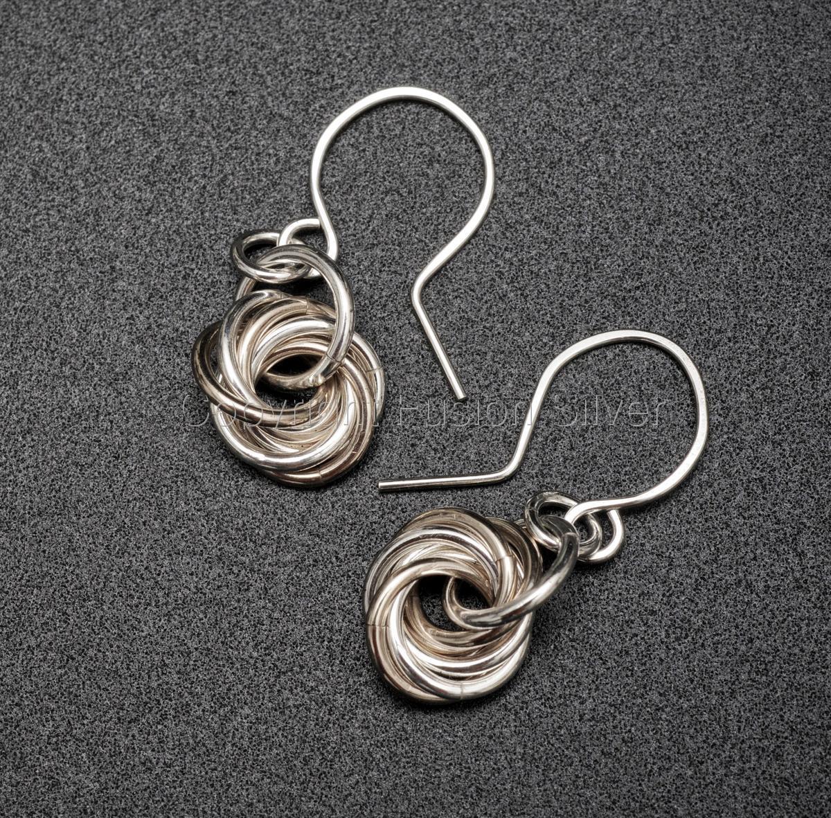 Mobius 2 tone Earrings (large view)