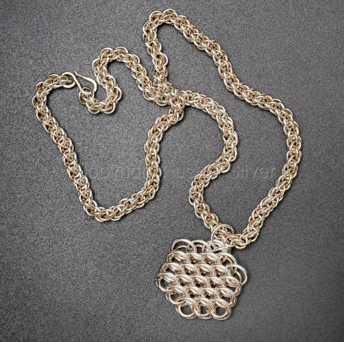 Jens Pind 6-in-1 Necklace, 2 tone, silver and gold (large view)