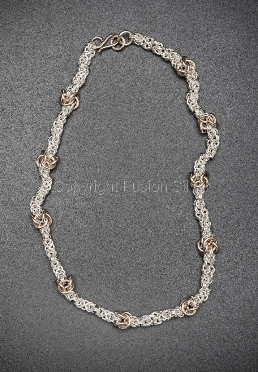 Byzantine Necklace with Gold Knots (large view)