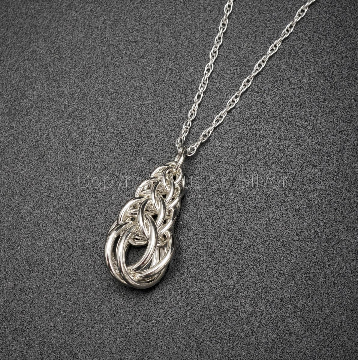 Graduated Full Persion Sterling Silver Pendant (large view)