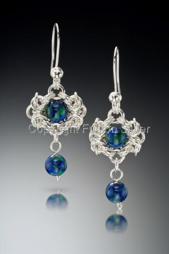 Earth view Earrings by Fusion Silver