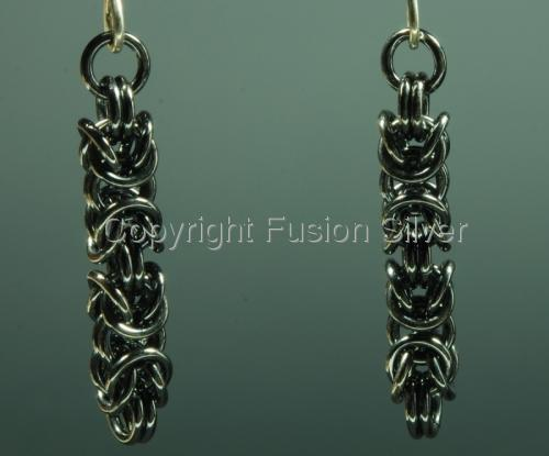 Byzantine earrings - oxidized (large view)