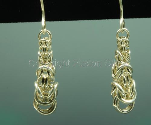 Graduated Byzantine Earrings (large view)