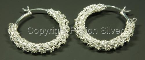 Crocheted Hoops - 25 mm (large view)