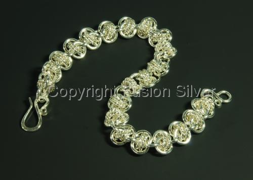 Barrel Weave Bracelet with Twisted Wire (large view)