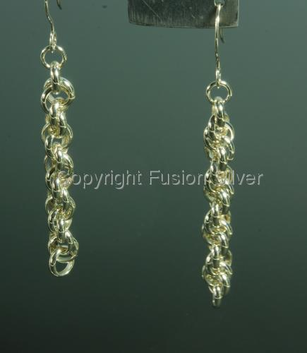 Spiral Rope Twist Earrings - Long (large view)