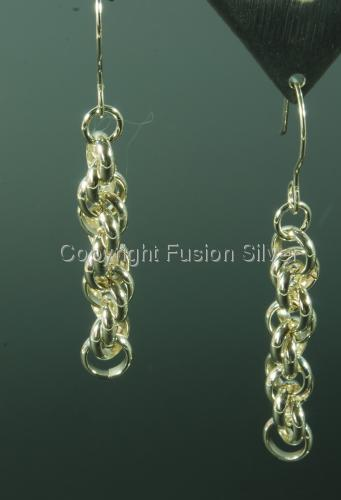 Spiral Rope Twist Earrings - Medium (large view)