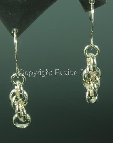 Spiral Rope Twist Earrings - Short (large view)