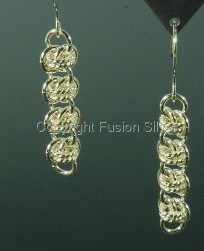 Barrel Weave earrings with Twisted Wire (large view)