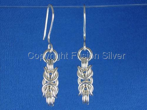 Byzantine Earrings - 16 gauge (large view)