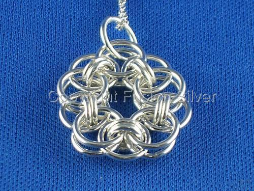 Helm Flower Pendant - small (large view)
