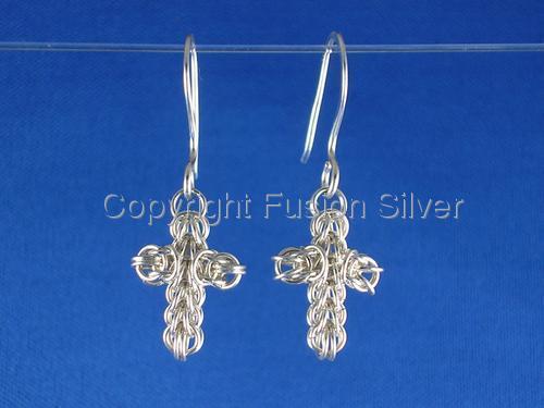 Persian Cross Earrings (large view)