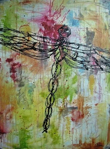 Insect Series: Dragonfly Multi by Dana Kahan