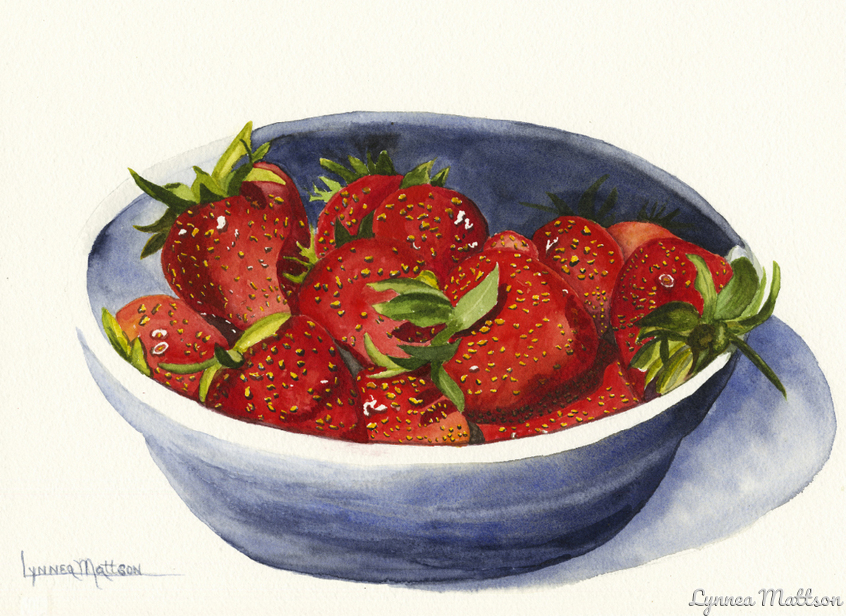 Bowl of Strawberries (large view)