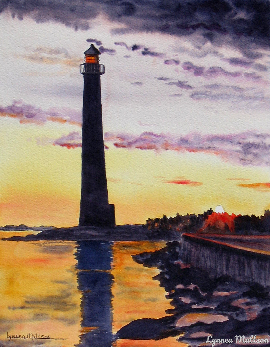 Lighthouse at Twilight (large view)