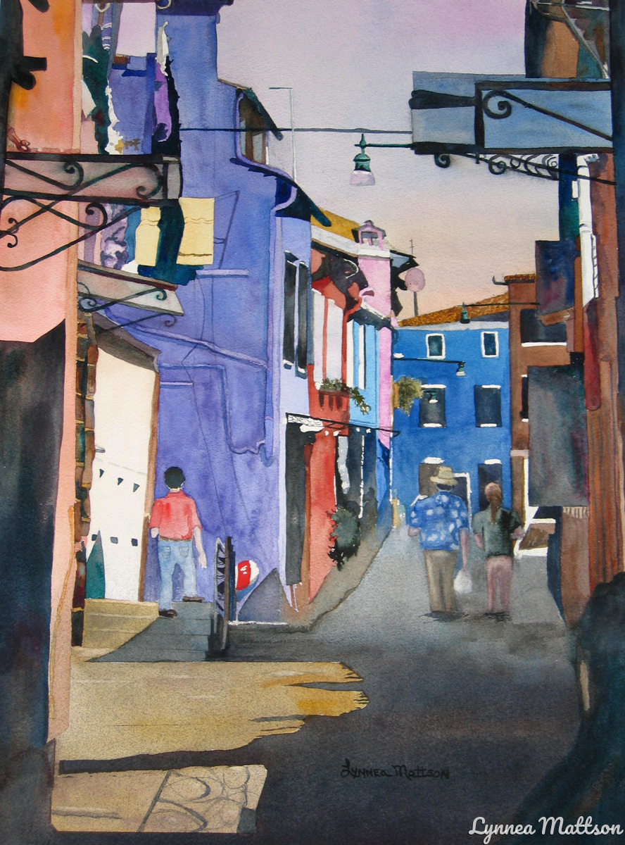Back Alley in Burano (large view)