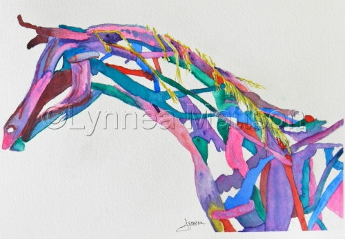 Colorful Drift Wood Horse