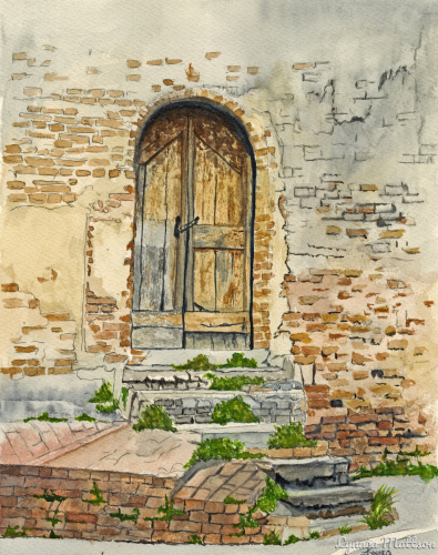 Painting Quot The Old Door In Certaldo Italy Quot Original Art