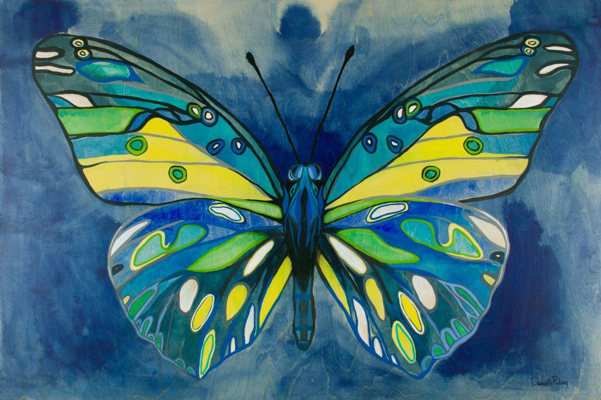 Indigo Butterfly (large view)