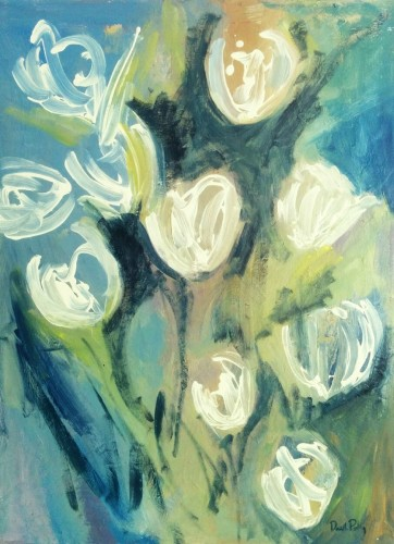 White Tulips by Danielle Poling