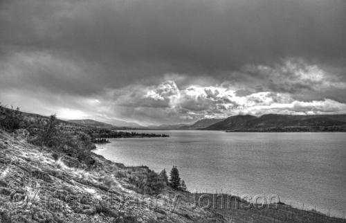 storm clouds okanagan lake