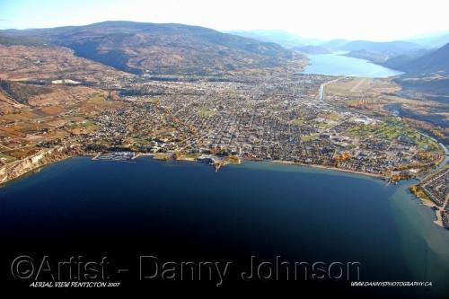 aerial view penticton 2008
