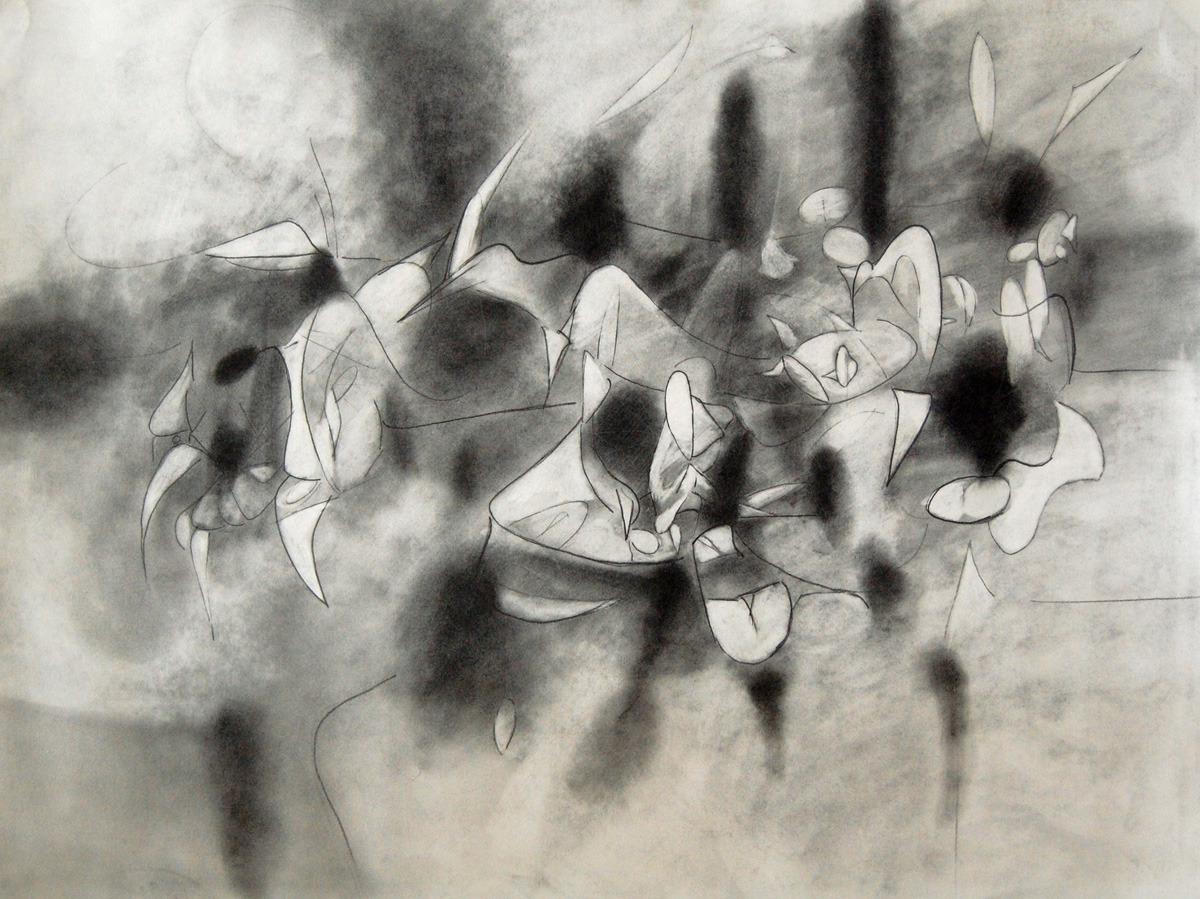 """Study for """"The Procession Moves On"""" (large view)"""