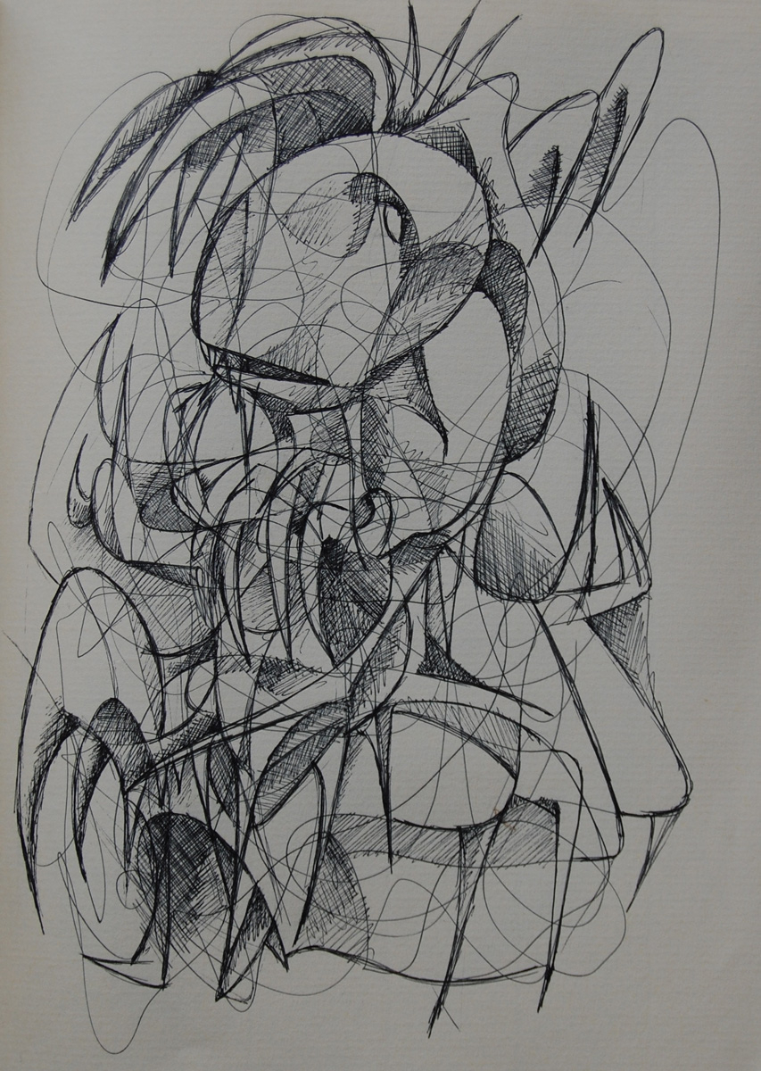 """Sketch for """"Machinations of The Rat-Spider"""" (large view)"""
