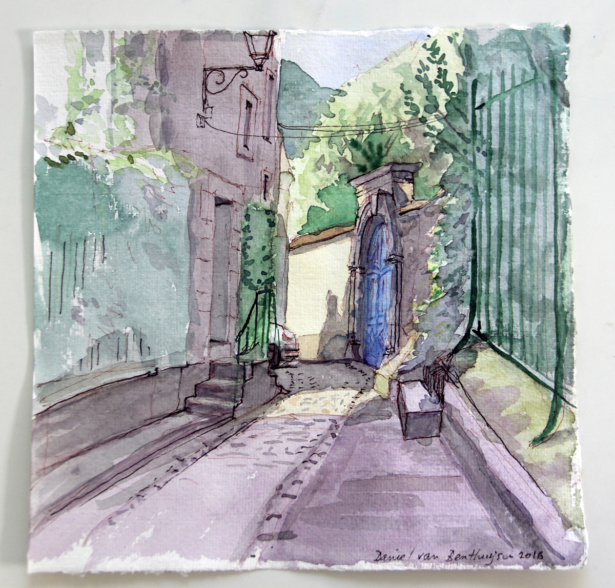 An Alley in Noyers (large view)